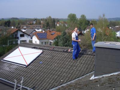 Solarthermieanlage in Wetterfeld