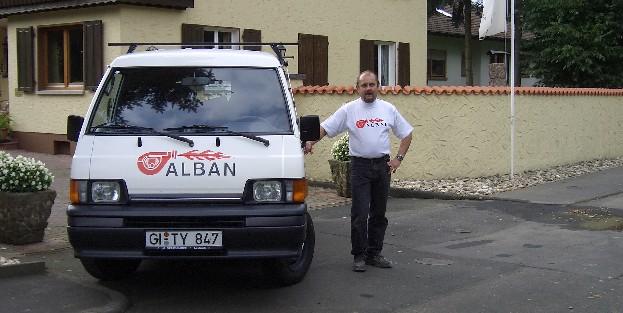 Kundendienstfahrzeug der ALBAN technische Anlagen GmbH,  35321 Laubach